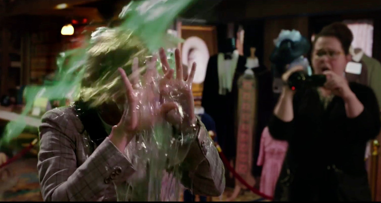 Watch A Particle Physicist Get Puked On In The New 'Ghostbusters' Trailer