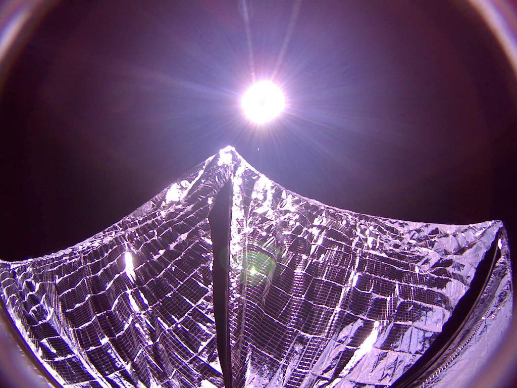 Here's What Bill Nye's LightSail Looks Like With Its Sails Deployed