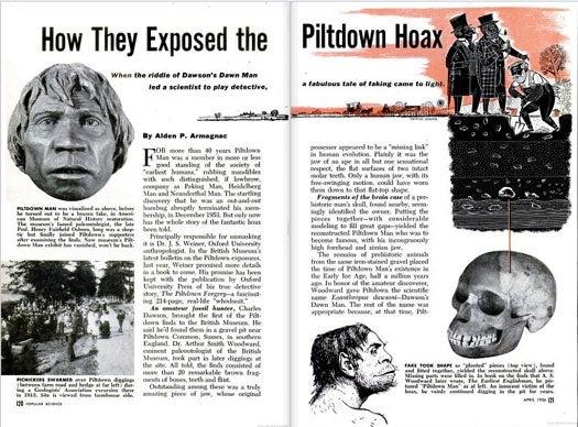 The Piltdown Hoax: April 1956