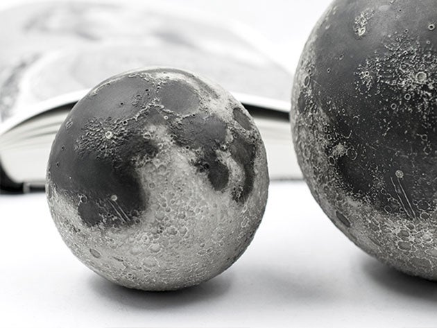 Explore the surface of the moon with the perfect palm-sized replica
