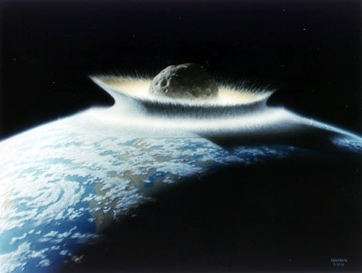 Giant Asteroid Impact Dated–Precisely–To Dinosaurs' End
