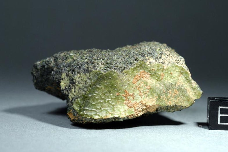This Weird Green Rock Is From Mercury