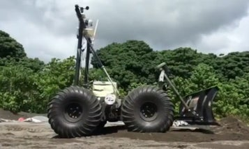 This Robot Just Built A Launch Pad