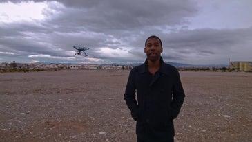The Hexo+ drone follows you over your shoulder