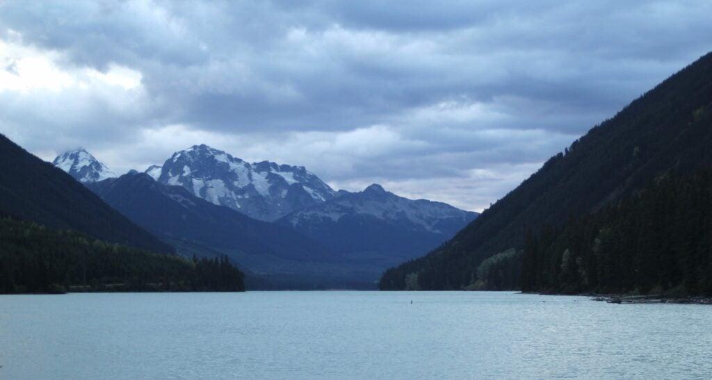 Cloudy skies in British Columbia.