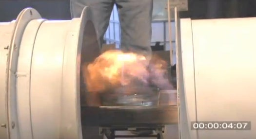 Video: DARPA Device Puts Out a Fire With Blast of Sound