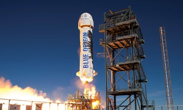 The Blue Origin Launch in Photos