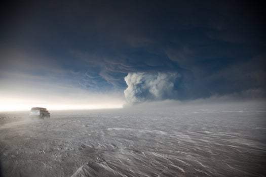 Video: Icelandic Ash Plume Blasts Through the Cloud Layer, as Seen from Space