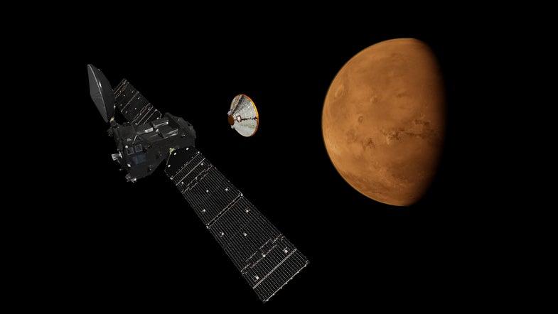 ExoMars Trace Gas Orbiter and Schiaparelli Separation