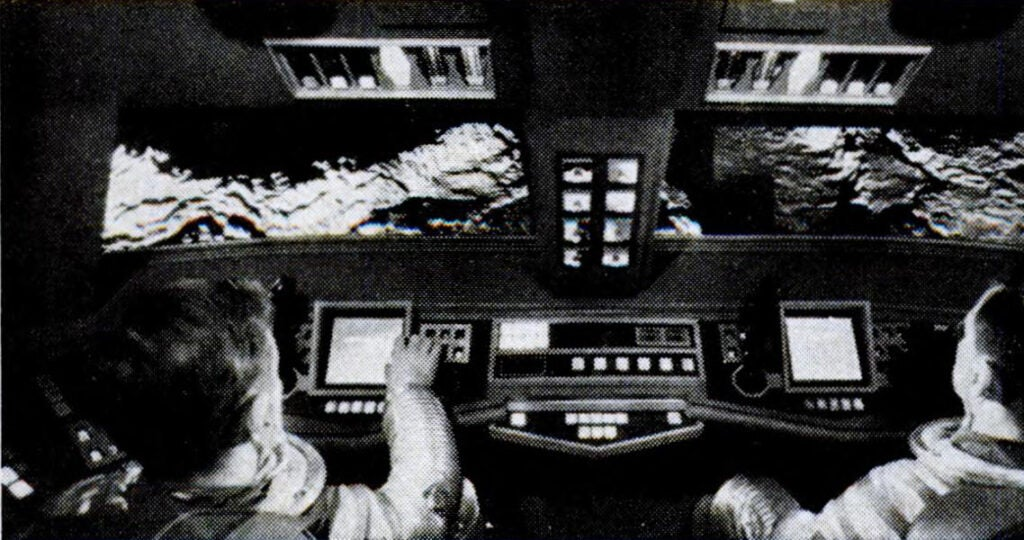 Command deck of the lunar bus