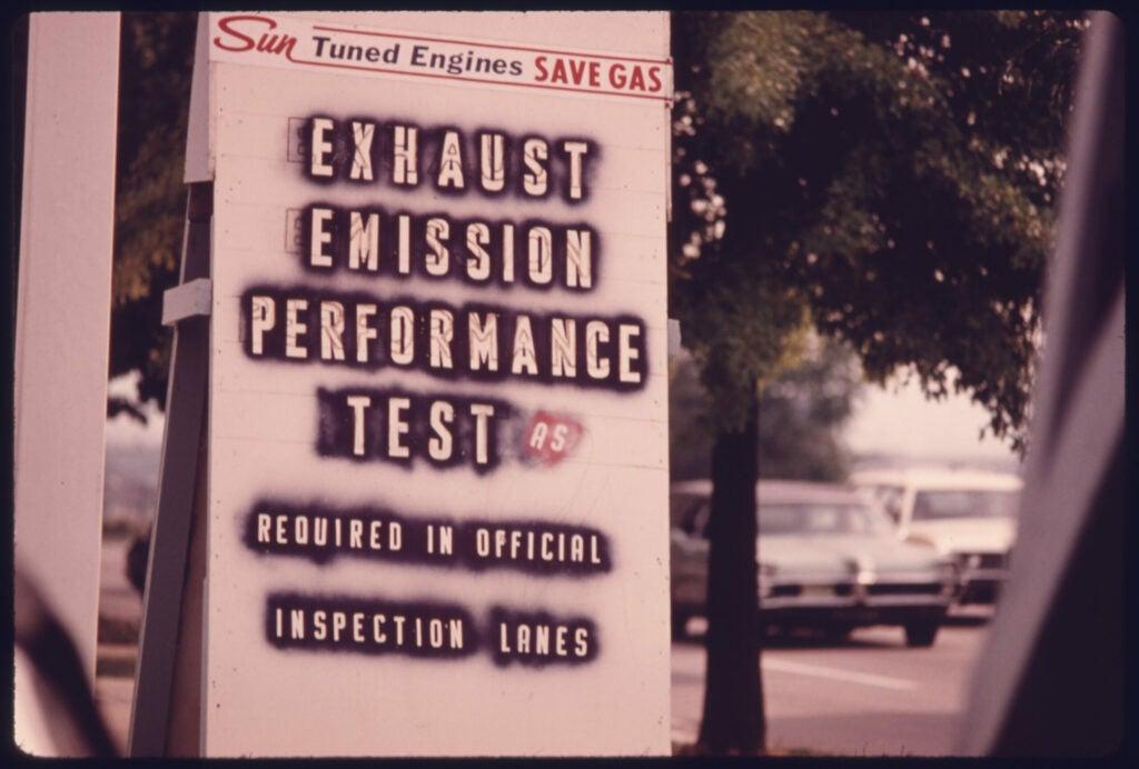 Emission Testing Sign