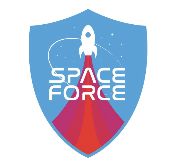 Space Force logo concepts Lisa Frank