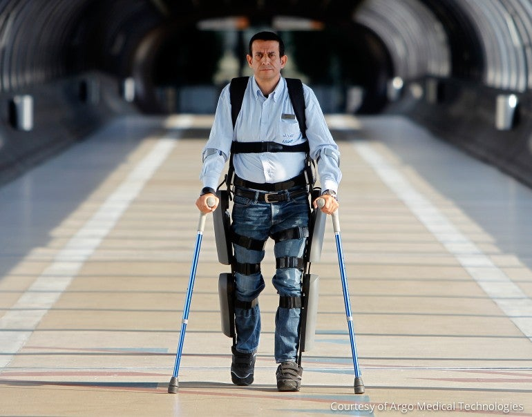 The ReWalk Personal System, the first exoskeleton approved by the FDA
