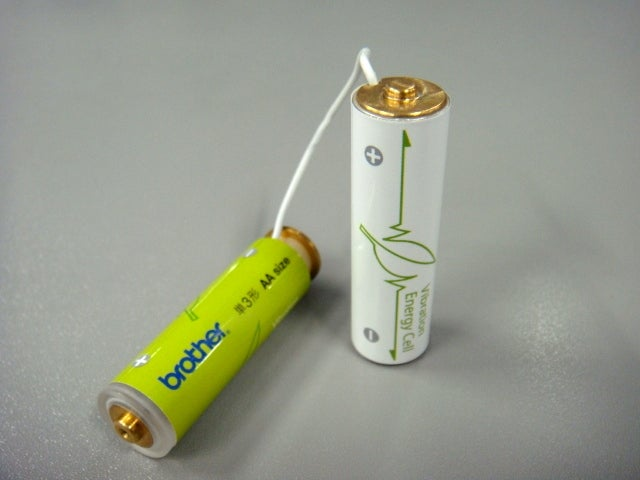 Vibration-Powered AA Battery Charges Up When You Shake It