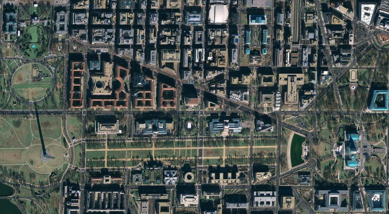 The Washington Mall From Space