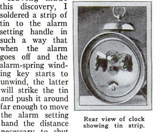 Self-Stopping Alarm, March 1931
