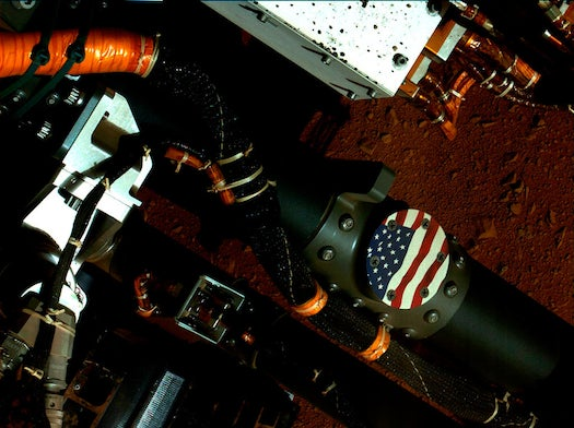 Today On Mars: Curiosity Shows American Pride