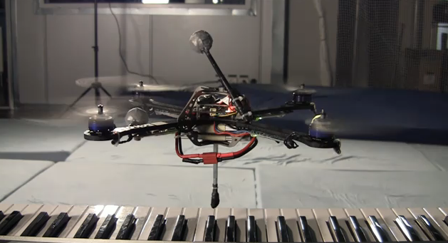 Holiday Video: Cute Quadrocopter Hovers Above Piano, Picks Out 'Jingle Bells'