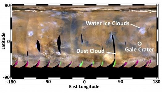 Mars Forecast: Dry Skies and Calm Winds for Mars Rover Curiosity's Landing