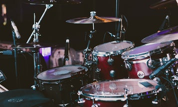 I'm creating a song using at-home recording tech. First up: the drums.