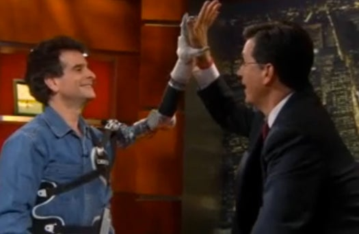 Video: Dean Kamen High-Fives Colbert With Latest Revision of  Prosthetic Luke Arm