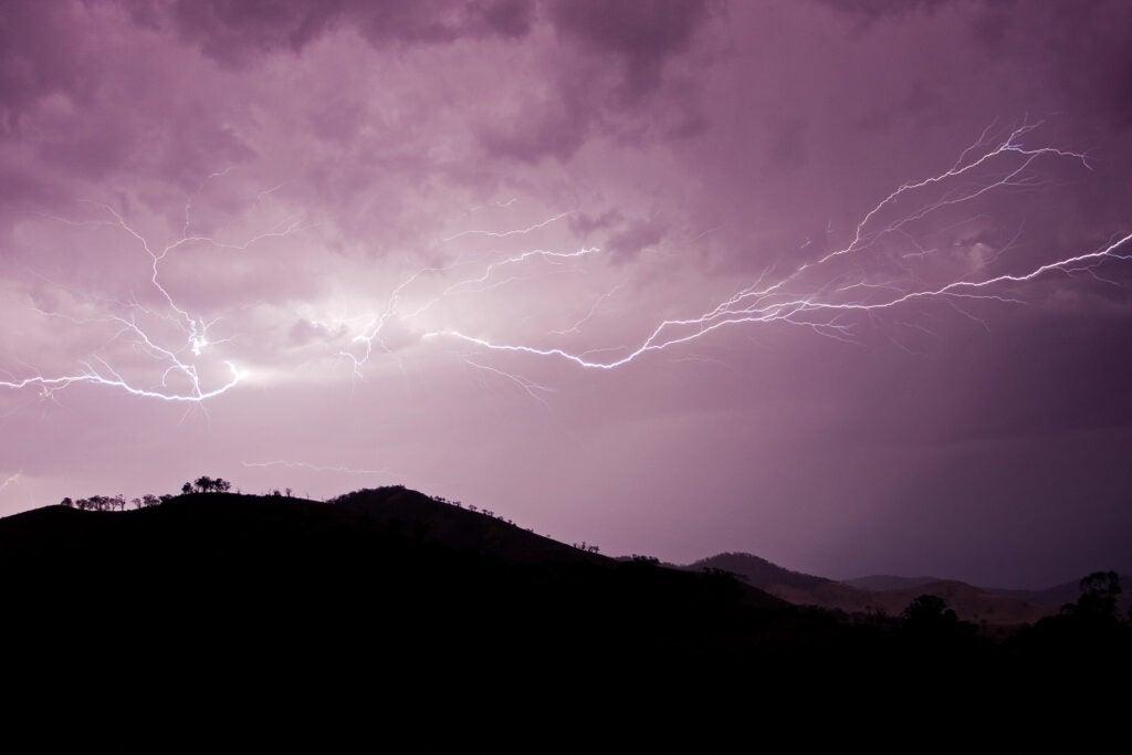 Lightning in Victoria, Australia