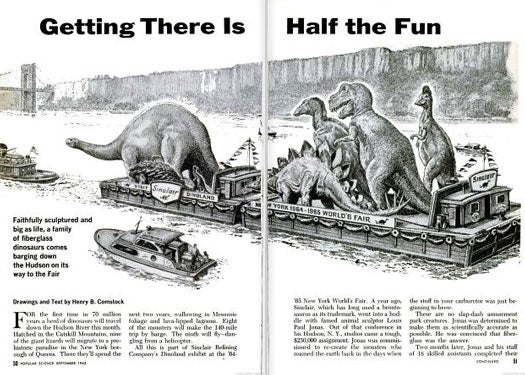 Dinosaurs in New York: September 1963