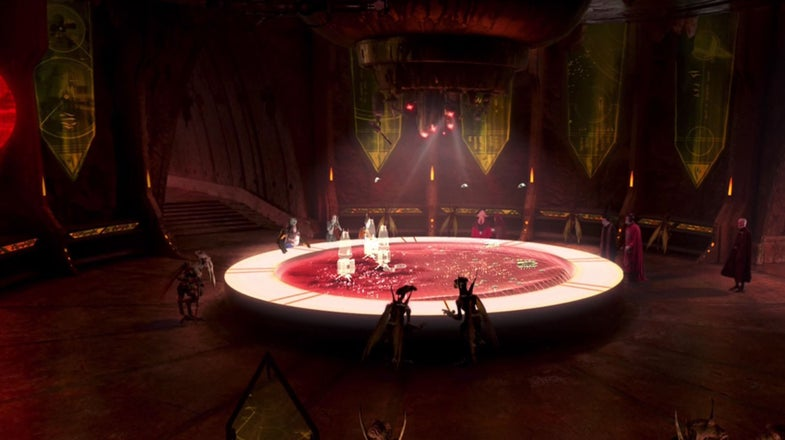 Star Wars Geonosis Hologram Battle