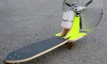 25 MPH on a Propeller-Powered Skateboard
