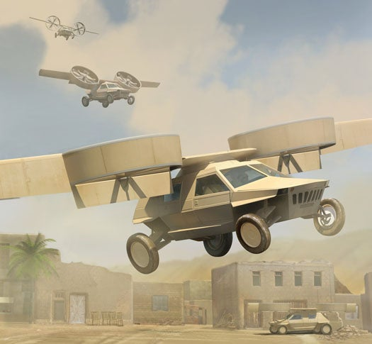 Carnegie Mellon Gets $1 Million To Build Autonomous Flying Capability For Darpa's Dream Car