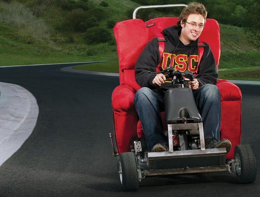You Built What? A Motorized Easy Chair to Roar Around Campus