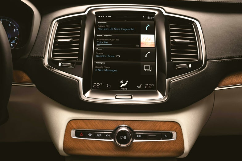 New iPad-Like Touchscreen On The 2015 Volvo XC90 Reinvents How We'll Interact With Our Cars