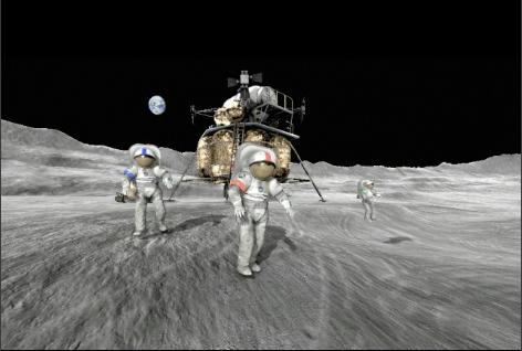 "NASA Introducing ""Moonbase Alpha"", a 3-D Game Set on the Moon"