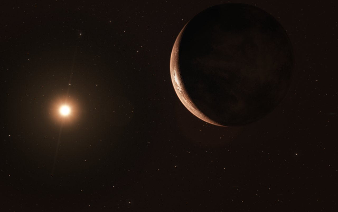 A frozen super-Earth is just six light years away