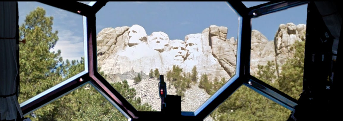 Darth Vader Visits Mount Rushmore