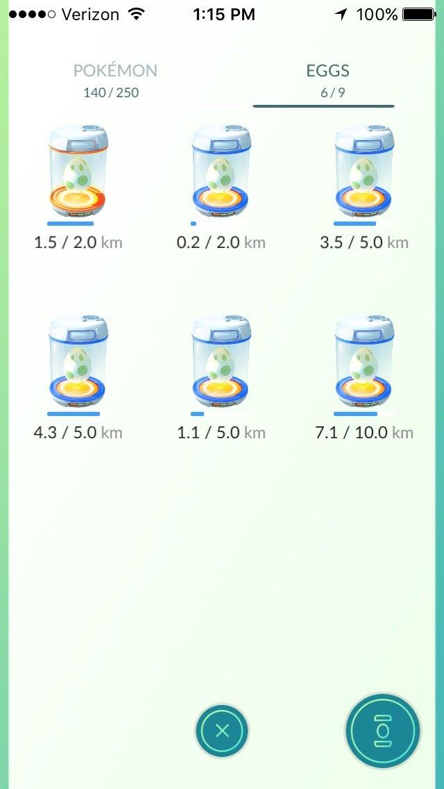 Pokémon Go Eggs