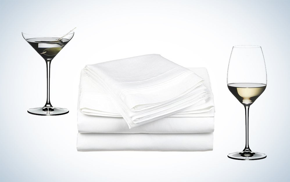 House deals sheets and glassware