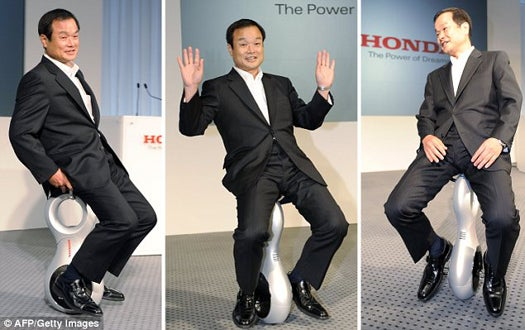 Honda's U3-X Personal Mobility System Is Segway Meets Unicycle
