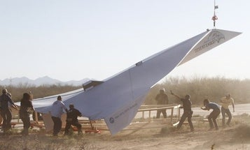 Video: At 800 Pounds and 45 Feet Long, The Largest-Ever Paper Airplane Takes Flight