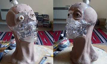 Forensic Reconstruction Shows What A Skull-Shaped Vodka Bottle Looks Like With A Face