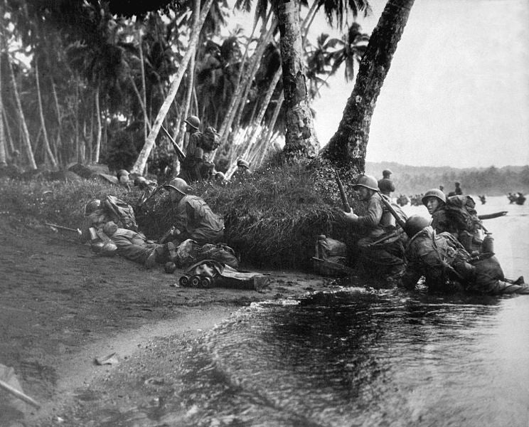 American forces landing at Rendova Island in the South Pacific.