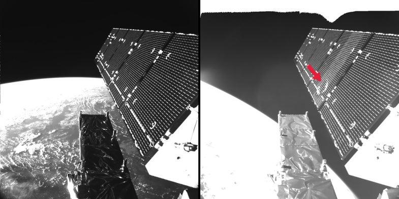 An ESA Satellite Was Hit By Space Debris