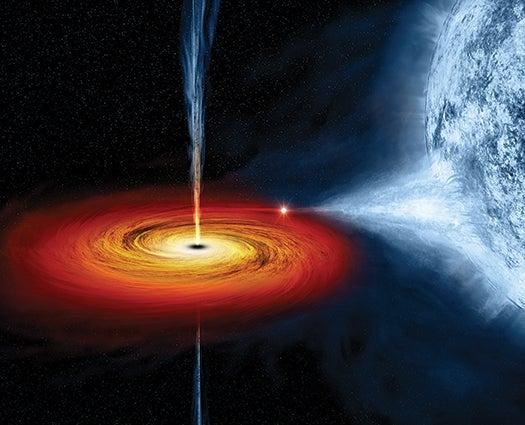 What Escapes A Black Hole?
