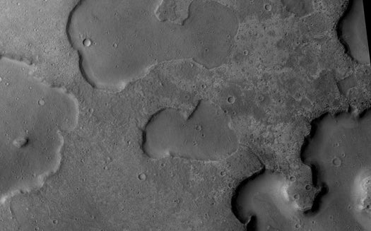 Mars Orbiter Images Suggest Water Flowed on Mars Far Later Than Once Thought