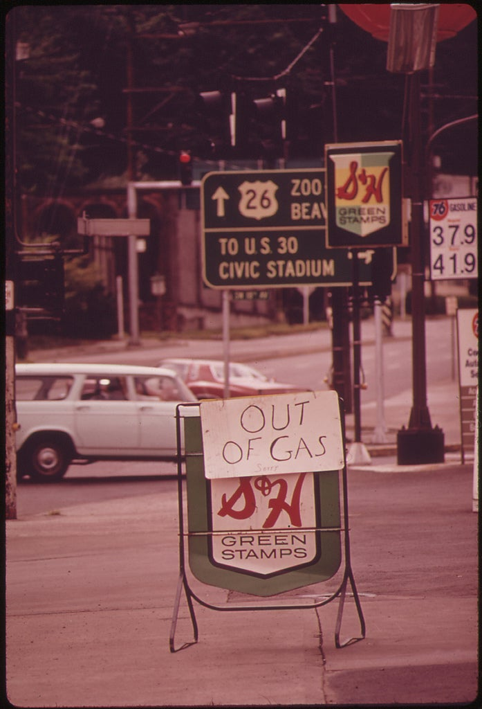 out of gas sign