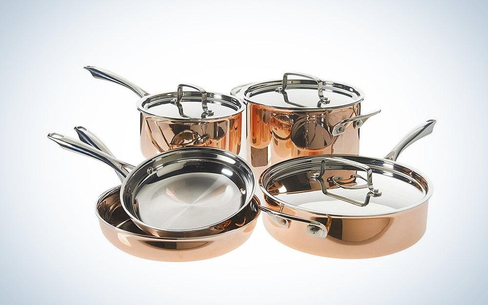 Cuisinart eight-piece cookware set