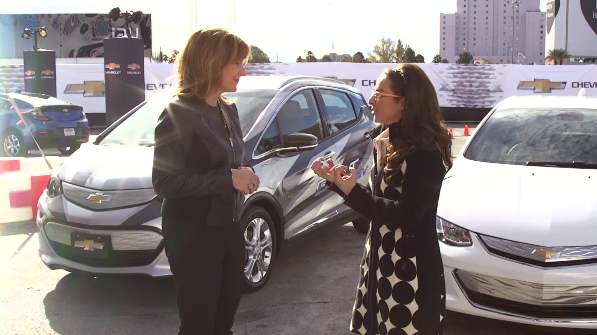 GM CEO Mary Barra on the Chevy Bolt At CES 2016