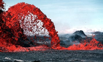 Here's what it's like to get thrown into a volcano