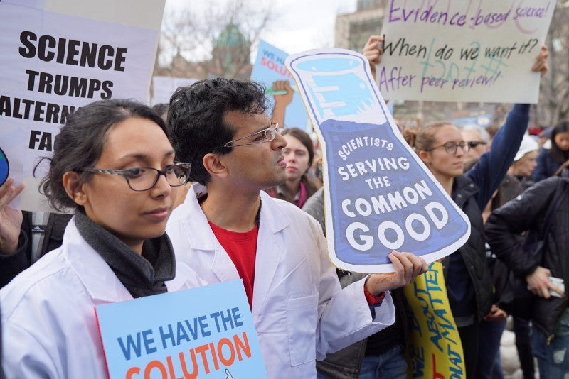 The Stand Up for Science Rally in Boston