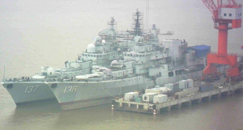 Sovremenny Destroyer 136 137 China Navy